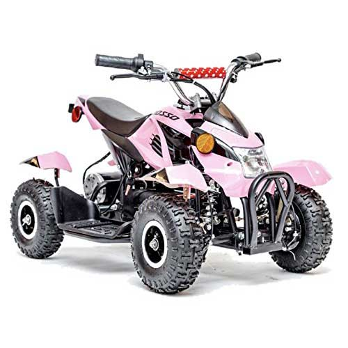 6. Rosso Motors Kids ATV Kids Quad 4 Wheeler Ride On – Motorcycle