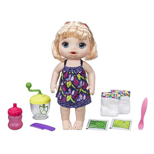 4. Baby Alive Sweet Spoonfuls Blonde Baby Doll Girl