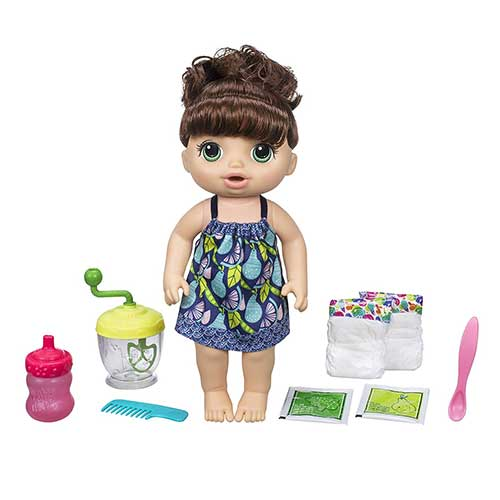 3. Baby Alive Sweet Spoonfuls Baby Doll Girl (Brunette)