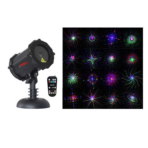 Best Garden Laser Lights 6. LedMAll® Bluetooth RGB Firefly Large Motion Patterns Laser Christmas Lights, Decorative, Landscape Garden Projector Remote Control Timer