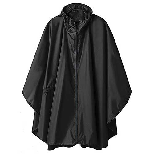Best Rain Ponchos for Travel 8. Rain Poncho Jacket Coat Hooded for Adults with Pockets