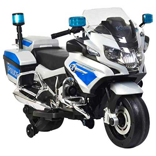 3. Rosso Motors Kids Police rideon Motorcycle Bike Car 12V