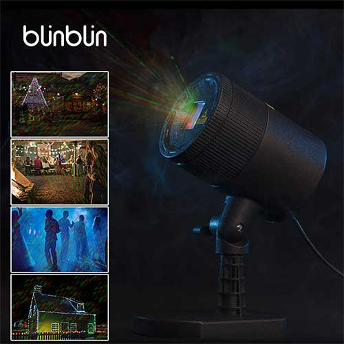 Best Garden Laser Lights 4. Blinblin Christmas LED Laser Light Projector, Red & Green Raindrop Spotlight Waterproof Outdoor Indoor Party Decorations Landscape Lights