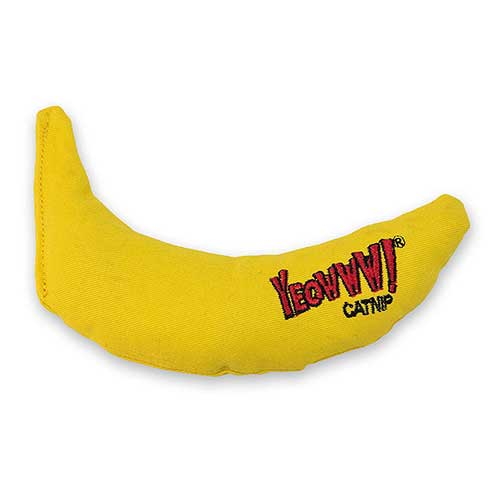 7. Yeowww! Catnip Toy, Yellow Banana