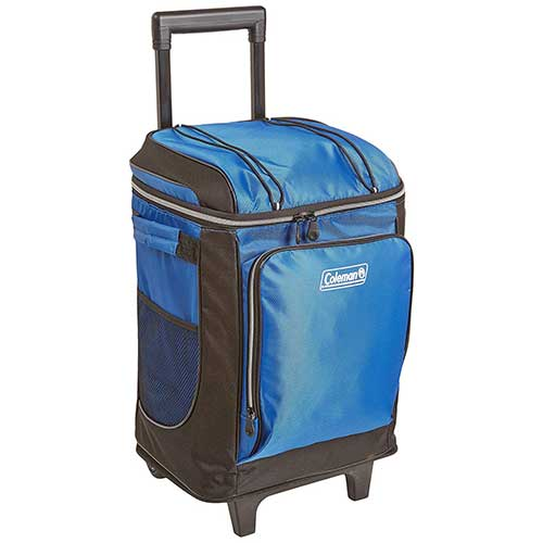 4. Coleman 42-Can Soft Cooler with Removable Liner & Wheels