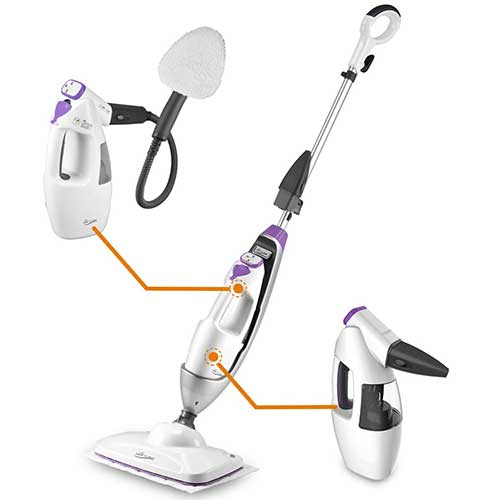 5. LIGHT 'N' EASY Steam Mop Floor Steamer Cleaner Multifunctional Garment Steaming All in 1 Cleaning
