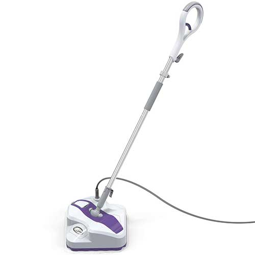 10. LIGHT 'N' EASY Steam Mop, Powerful Floor Steamer Cleaner Mopper with Automatic Steam Control, S7338 (White Violet)