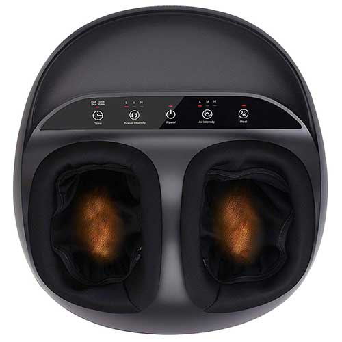 1. RENPHO Shiatsu Foot Massager Machine with Heat, Deep Kneading Therapy, Air Compression, Relieve Foot Pain from Plantar Fasciitis, Improve Blood