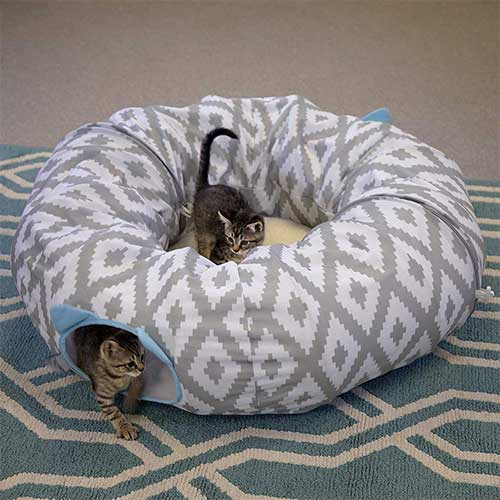 9. Kitty City Large Cat Bed, Cat Cube, Cat House/Cat Condo, Pop Up bed, Stackable bed