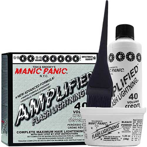 Best Hair Bleach Kits to Use 2. Manic Panic Flash Lightning Hair Bleach Kit 40 Volume