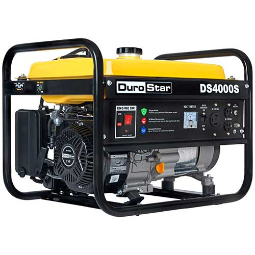 Best Dual Fuel Generators 10. DuroStar DS4000S, 3300 Running Watts/4000 Starting Watts, Gas Powered Portable Generator