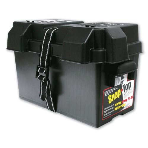 Best Trolling Motor Battery 10. NOCO Black HM318BKS Group 24-31 Snap-Top Box for Automotive, Marine, and RV Batteries