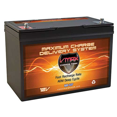 Best Trolling Motor Battery 1. VMAX MR127 12 Volt 100Ah AGM Deep Cycle Maintenance Free Battery