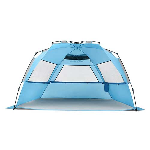 2. Pacific Breeze Easy Setup Beach Tent Deluxe XL