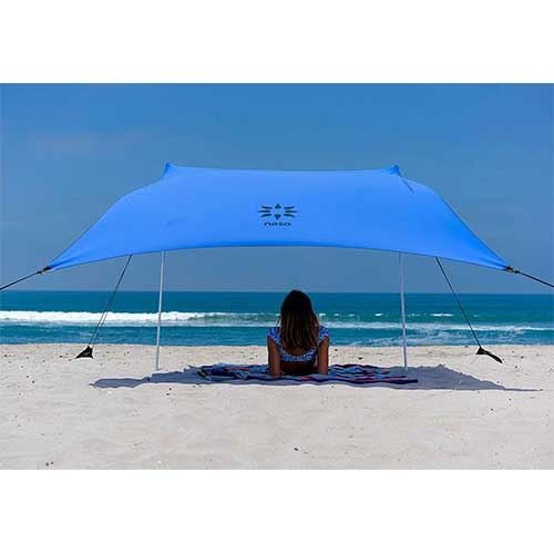 6. Neso Tents Beach Tent with Sand Anchor, Portable Canopy Sunshade - 7' x 7' - Patented Reinforced Corners