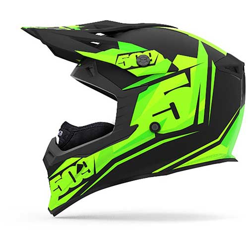 Best Snowmobile Helmets 8. 509 Tactical Snowmobiling Helmet - Black Lime (XL)
