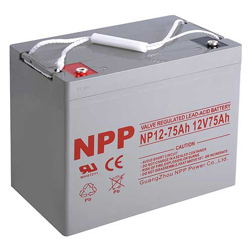 Best Trolling Motor Battery 8. NPP NP12-75Ah Rechargeable 12V 75 Ah Sealed Lead Acid Battery with Button Style Terminals