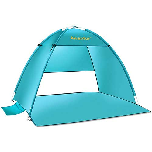 8. Alvantor Beach Tent Super Bluecoast Beach Umbrella Outdoor Sun Shelter Cabana Automatic Pop Up Canopy
