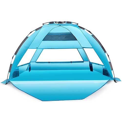 10. Arcshell Premium Extra Large Pop Up Beach Tent UPF 50+
