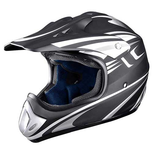 Best Snowmobile Helmets 10. AHR DOT Outdoor Adult Full Face MX Helmet Motocross Off-Road Dirt Bike Motorcycle ATV M