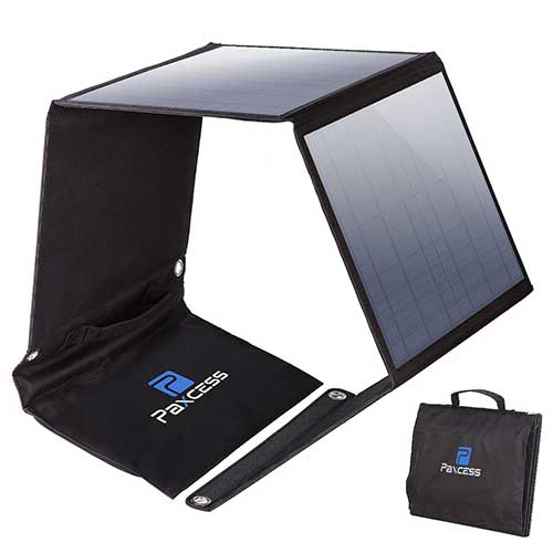 3. PAXCESS Foldable 50W Solar Panel Charger for Suaoki Portable Generator