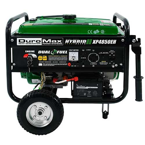 Best Dual Fuel Generators 7. Duromax XP4850EH 3850 Running Watts/4850 Starting Watts Dual Fuel Electric Start Portable Generator