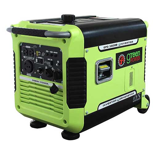 Best Dual Fuel Generators 3. Green-Power America GPG3500iE 3500W Inverter Generator, Green/Black