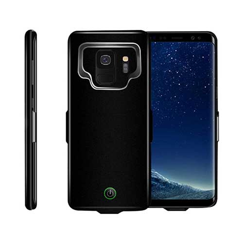 10. Fineser 7000mAh Extended Charging Battery Power Case Cover for Samsung Galaxy S9 (Black)