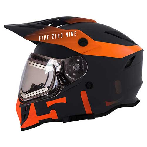 Best Snowmobile Helmets 1. 509 Delta R3 2.0 Full Face Snow Helmet with Fidlock (Storm Chaser - X-Large)