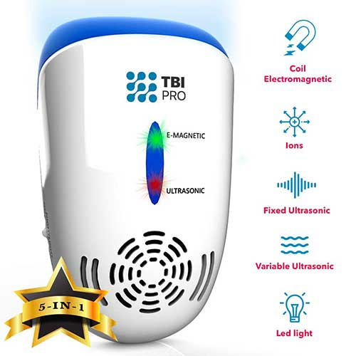 4. UPGRADED Ultrasonic Pest Repeller Wall Plug-in - Most Effective 2019 Electromagnetic & Ionic Indoor Anti Mouse, Ant, Mosquito, Cockroach Control