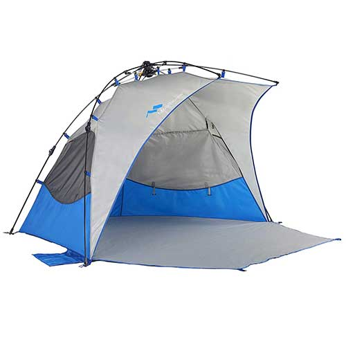 7. Mobihome Beach Tent Sun Shelter Instant Quick Up, Sand & Surf Beach Tents Umbrella & Canopy