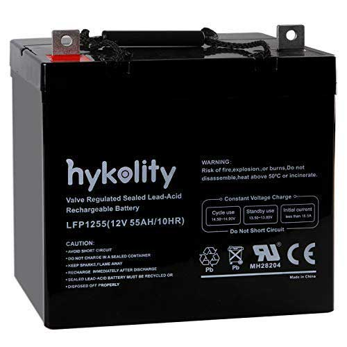 Best Trolling Motor Battery 4. Hykolity 12V 55AH Deep Cycle Battery UB12550 For Power Scooter Wheelchair Mobility Emergency UPS System