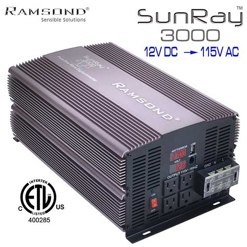 3. Ramsond SunRay 3000/6000 Watts W True Pure Sine Wave Power Inverter Generator