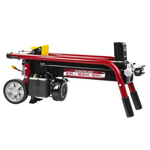 6. Southland Outdoor Power Equipment SELS60 6 Ton Electric Log Splitter, Red
