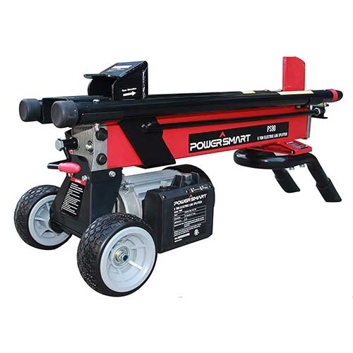 5. PowerSmart PS90 Electric Log Splitter, red, Black