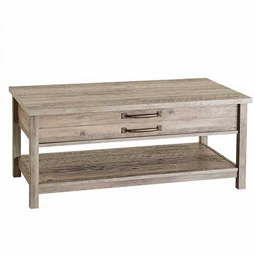 5. BHG Unique Style and Functionality with Modern Farmhouse Lift-Top Coffee Table, Rustic Gray Finish