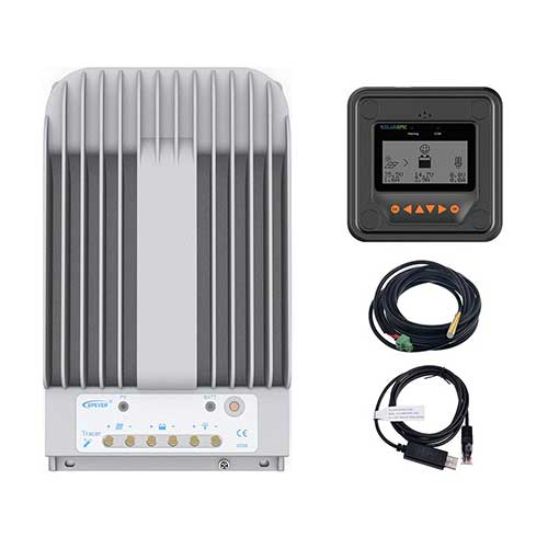 4. EPEVER MPPT Solar Charge Controller 40A 150V PV Solar Panel Controller Negative Ground W/ MT50 Remote Meter