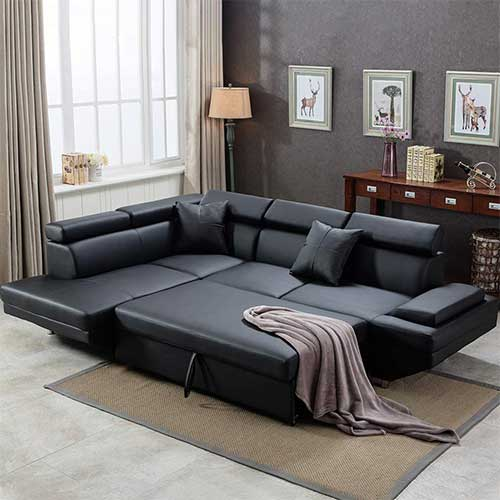 2. Sofa Sectional Futon Sofa Bed Living Room Sofas Couches and Sofas Corner Sofa Set Sleeper Sofa Faux Leather