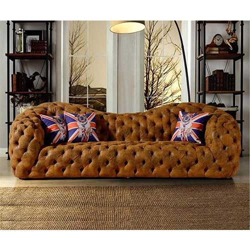 8. My Aashis Modern Leather Sofa Couch Chesterfield Sofa Big 3 seat