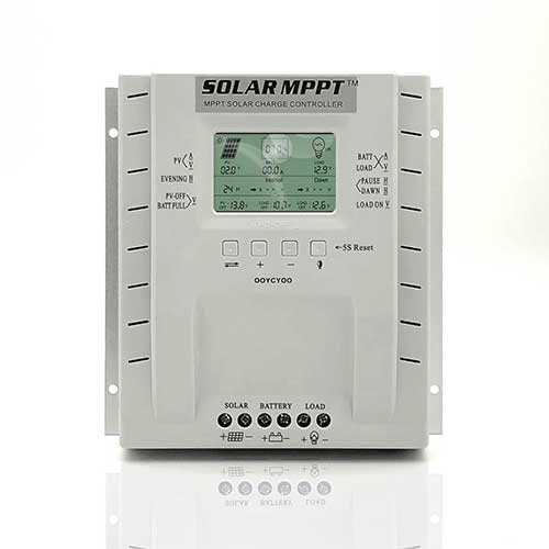 2. OOYCYOO MPPT Charge Controller 60 amp 12V/24V Auto, 60A Solar Panel Charge Regulator with LCD Display