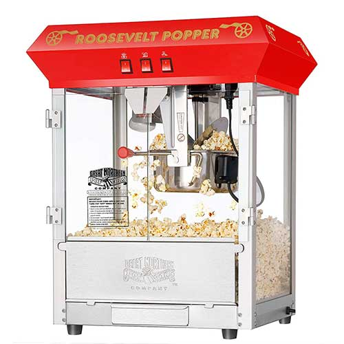 2. 6010 Great Northern Red 8oz Roosevelt Antique Countertop Style Popcorn Popper Machine