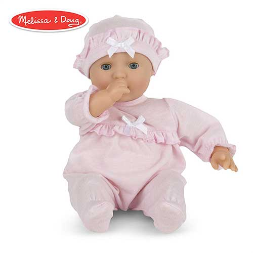 2. Melissa & Doug Mine to Love Jenna 12-Inch Soft Body Baby Doll