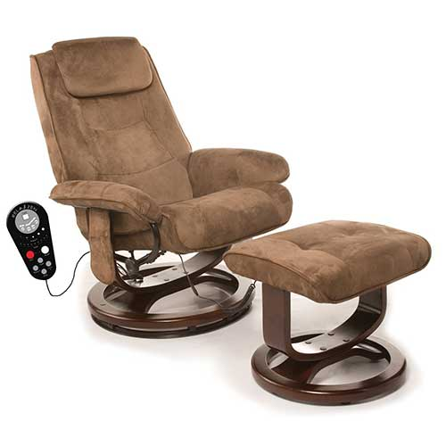 5. Relaxzen Deluxe Leisure Recliner Chair with 8-Motor Massage & Heat, Brown