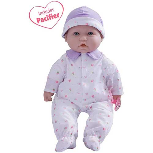 3. JC Toys, La Baby 16-inch Purple Washable Soft Baby Doll with Baby Doll