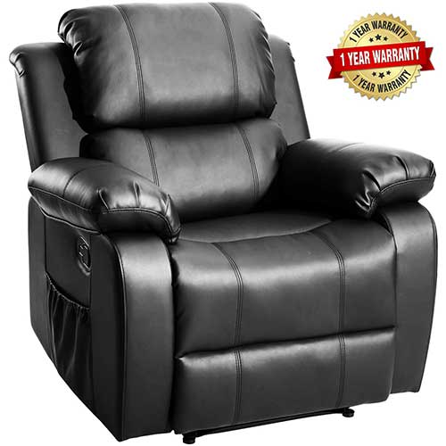 7. Merax Massage Recliner Chair with Heat and Massage Heated Vibrating Massage Recliner