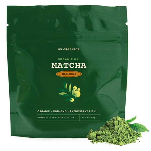 5. SB Organics Matcha Green Tea Gold Premium Powder