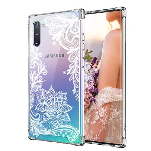 3. Cutebe Shockproof Series Hard PC+ TPU Bumper Protective Case for Samsung Galaxy Note 10 2019 Release