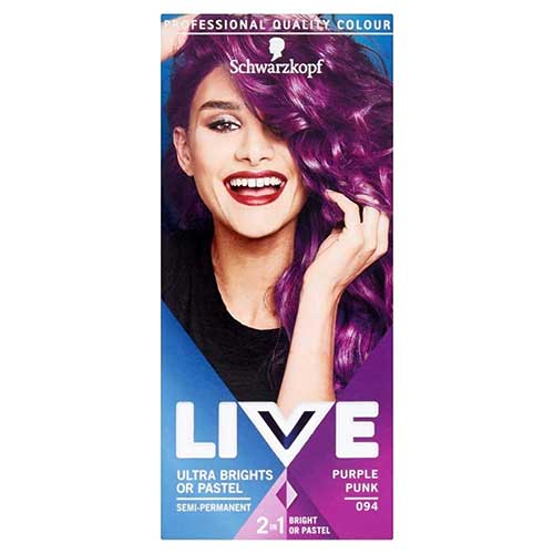 6. Schwarzkopf Live Ultra Brights 94 Purple Pink Hair Color