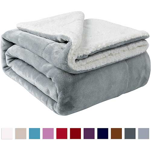 8. Nanpiper Sherpa Blanket Twin Thick Warm Blanket