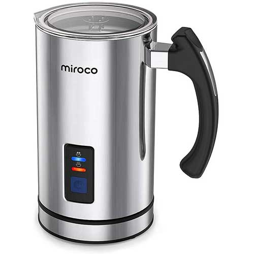 7. Miroco Milk Frother, Electric Milk Steamer Stainless Steel, Automatic Hot and Cold Milk Frother Warmer